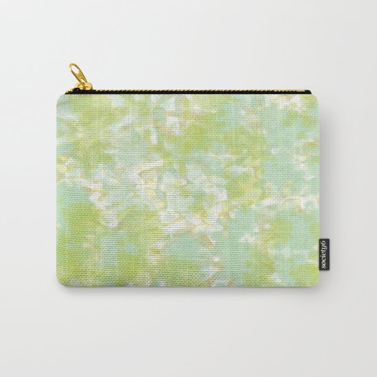 Golden Green Watercolor Abstract Carry-All Pouch