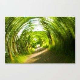 Green Vortex Canvas Print