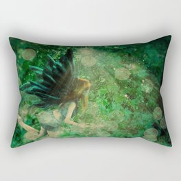 Abstract illustration of fairy fly in the forest Rectangular Pillow