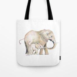 Mom and Baby Elephant 2 Tote Bag