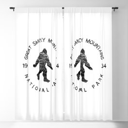 Great Smoky Mountains National Park Sasquatch Blackout Curtain