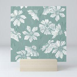 Floral seamless pattern Mini Art Print
