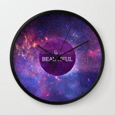 Life is Beautiful Wall Clock
