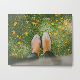 Walk a mile in my shoes Metal Print