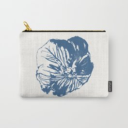 Mexican Primrose Minimal-Nature Blue Carry-All Pouch