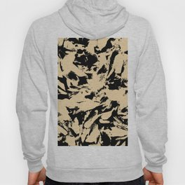 Beige Yellow Black Abstract Military Camouflage Hoody