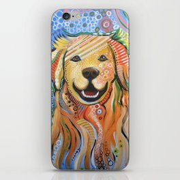 Max ... Abstract dog art, Golden Retriever, Original animal painting iPhone Skin