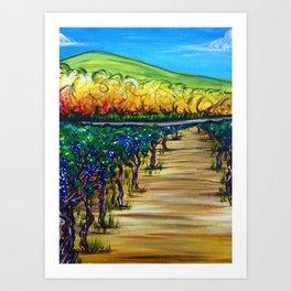 Vineyard Walk Art Print