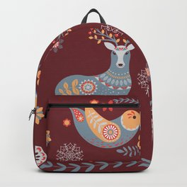 Nordic Winter Red Backpack
