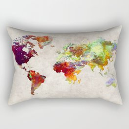 World Map 62 Rectangular Pillow
