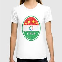 pirlo T-shirts featuring World Cup Football 2/8 - Italia (Distressed) by Made of Thoughts