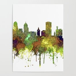 Buffalo, New York Skyline - SG Safari Buff Poster