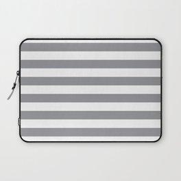 Horizontal Grey Stripes Laptop Sleeve