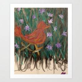 A little birdie told me. Art Print