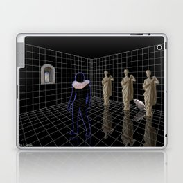 Man in a room with statues and cats Laptop & iPad Skin