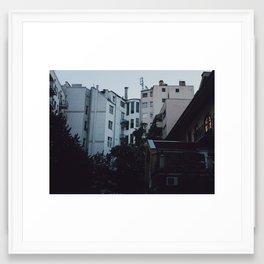 Somber Night Framed Art Print