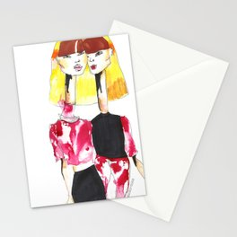 Bleached twins Stationery Cards