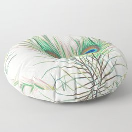 Unique Peacock Feathers Pattern Floor Pillow