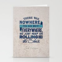kerouac Stationery Cards featuring Kerouac  by Matt Smiroldo