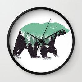 Bear Landscape Wall Clock