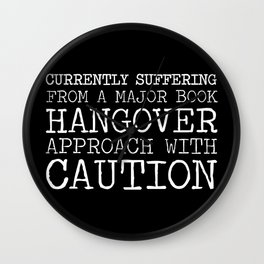 Book Hangover (Inverted) Wall Clock