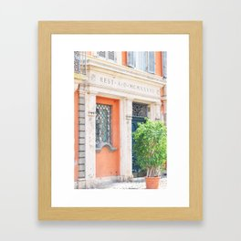 158. Rest A, Rome Framed Art Print