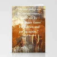 mandela Stationery Cards featuring Mandela 2 by Shalisa Photography