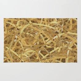 Full of gold chains Rug