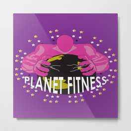 Planet Fitness Metal Print