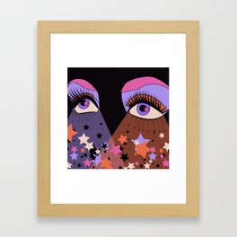 Star Gaze Framed Art Print