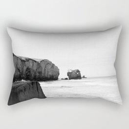 Black and White Dunedin beach - New Zealand Rectangular Pillow