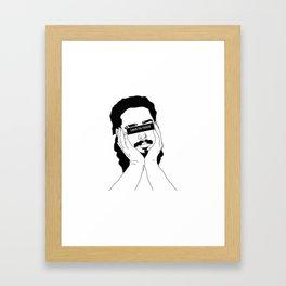 leave me malone Framed Art Print