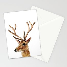 deer watercolor painting Stationery Cards