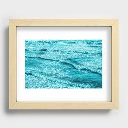 Small Ocean Waves Recessed Framed Print