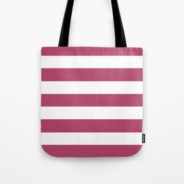 Irresistible - solid color - white stripes pattern Tote Bag