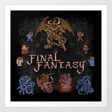 Fantasy Final Art Print