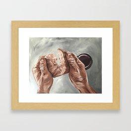 Bread and Wine Framed Art Print