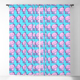 Lovely Axolotl Blackout Curtain