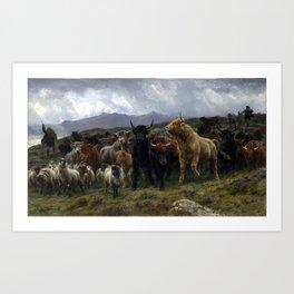 Rosa Bonheur Highland Raid Art Print