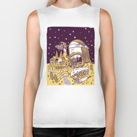 hippy Biker Tanks featuring Giant Hippy by Josh Quick