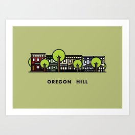 Oregon Hill Art Print