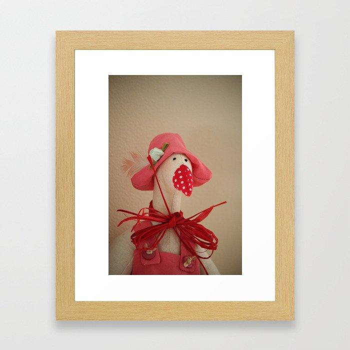 Mrs. Goose Framed Art Print