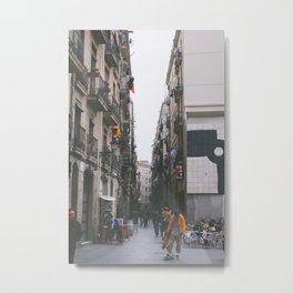 Barcelona Skateboarder Metal Print