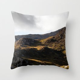 Tryfan Edge - Snowdonia - Wales Throw Pillow