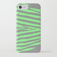 stripes iPhone & iPod Cases featuring Green & Gray Stripes by 2sweet4words Designs