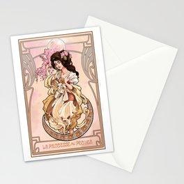 La Princesse aux fleurs de pêcher Stationery Cards