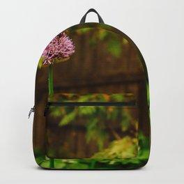 Golden Hour Purple Flowers Backpack