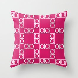 angle red & white Throw Pillow