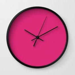 Fireball Fuchsia Wall Clock