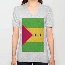 Sao Tome and Principe flag emblem Unisex V-Neck